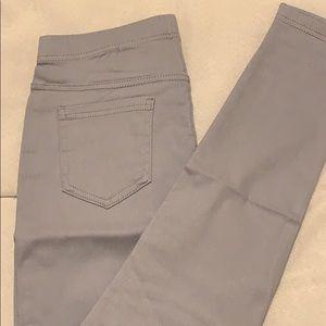 Pants - Gray Moto Pants With Back Pocket Leggings